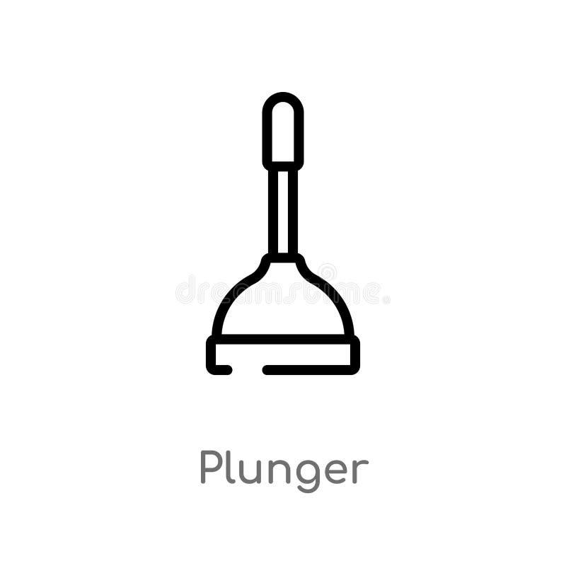 kontur nurnikowa wektorowa ikona odosobniona czarna prosta kreskowego elementu ilustracja od czyści pojęcia editable wektorowy ud ilustracji