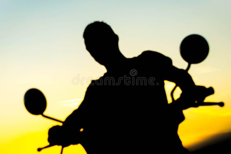 Kontur på en motorcykel arkivfoton