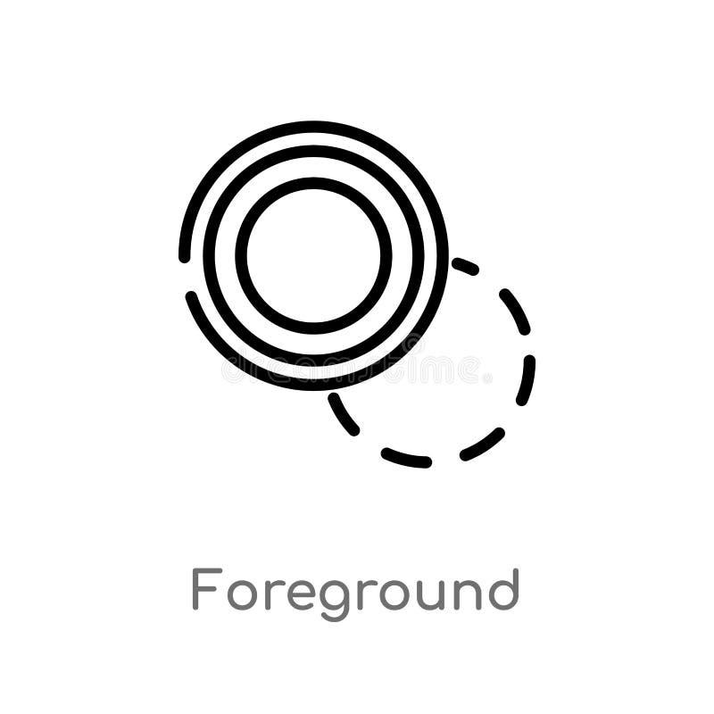 kontur pierwszoplanowa wektorowa ikona odosobniona czarna prosta kreskowego elementu ilustracja od geometrycznego postaci poj?cia ilustracji