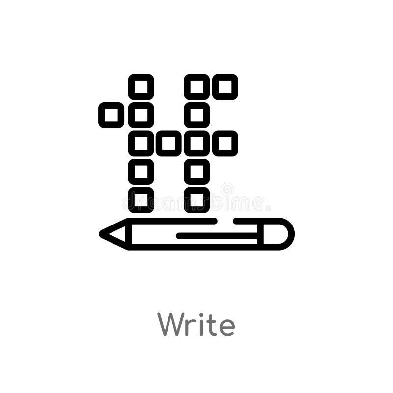 kontur pisze wektorowej ikonie odosobniona czarna prosta kreskowego elementu ilustracja od hobby pojęcia editable wektorowy uderz ilustracji