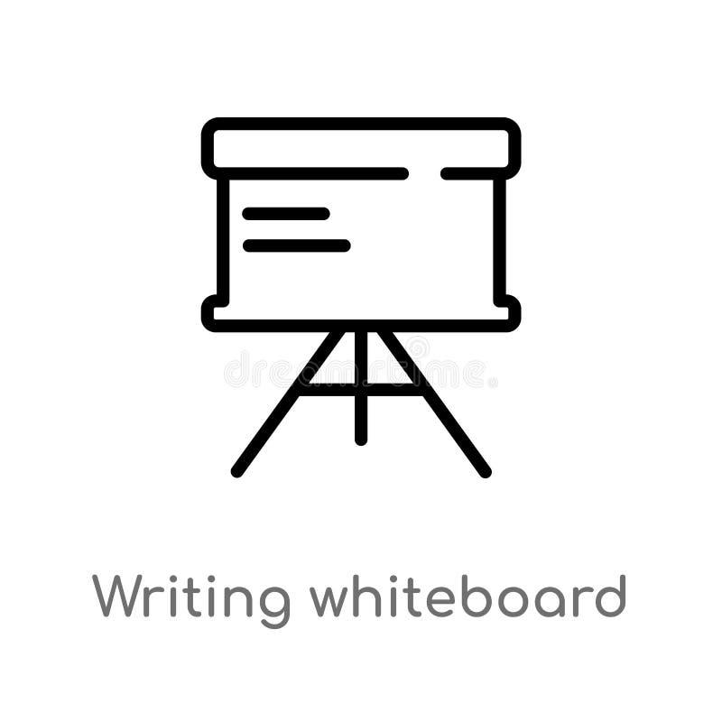 kontur pisze whiteboard wektoru ikonie odosobniona czarna prosta kreskowego elementu ilustracja od edukacji poj?cia Editable wekt royalty ilustracja