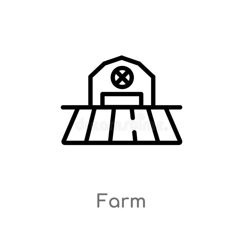 kontur rolna wektorowa ikona odosobniona czarna prosta kreskowego elementu ilustracja od uprawiać ziemię pojęcie i uprawiać ogród ilustracja wektor