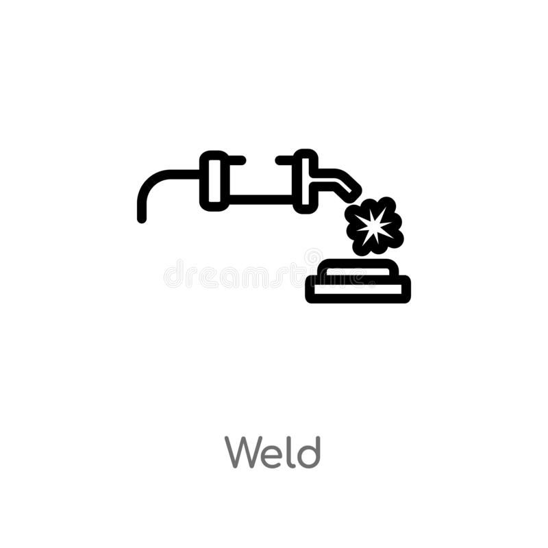 kontur spawki wektoru ikona odosobniona czarna prosta kreskowego elementu ilustracja od przemys?u poj?cia editable wektorowa uder royalty ilustracja