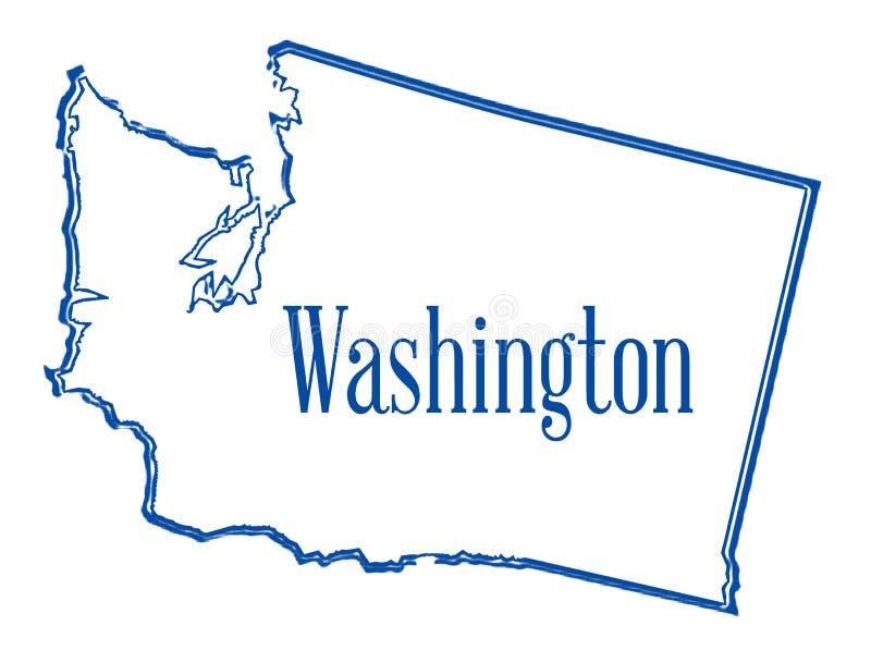 Kontur stan Waszyngton ilustracji