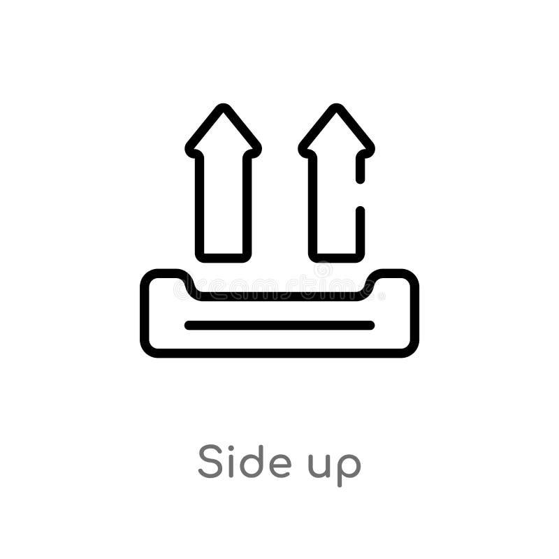 kontur strona w górę wektorowej ikony odosobniona czarna prosta kreskowego elementu ilustracja od doręczeniowego i logistycznie p ilustracja wektor