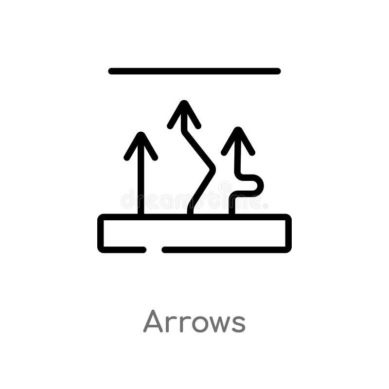 kontur strzał wektoru ikona odosobniona czarna prosta kreskowego elementu ilustracja od analityki poj?cia editable wektorowe uder ilustracja wektor