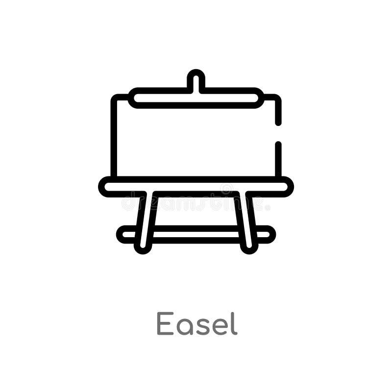 kontur sztalugi wektoru ikona odosobniona czarna prosta kreskowego elementu ilustracja od edukacji 2 pojęcia editable wektorowa u royalty ilustracja