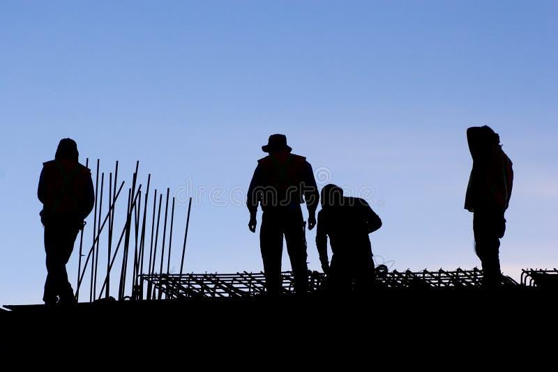 Kontur von Arbeitskräften stockfotos