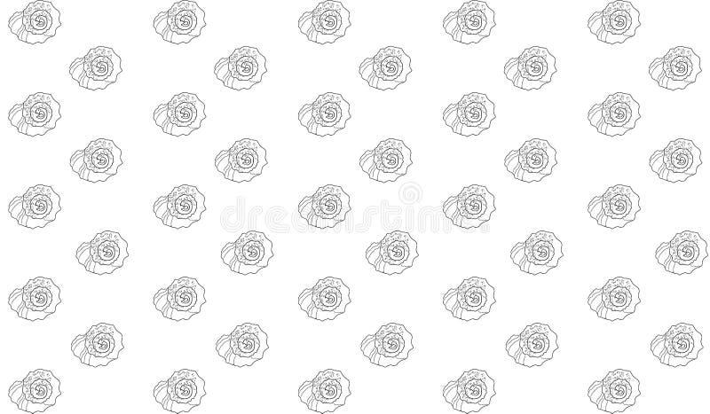 Kontur von rapana Oberteilen auf einem weißen Hintergrund stock abbildung