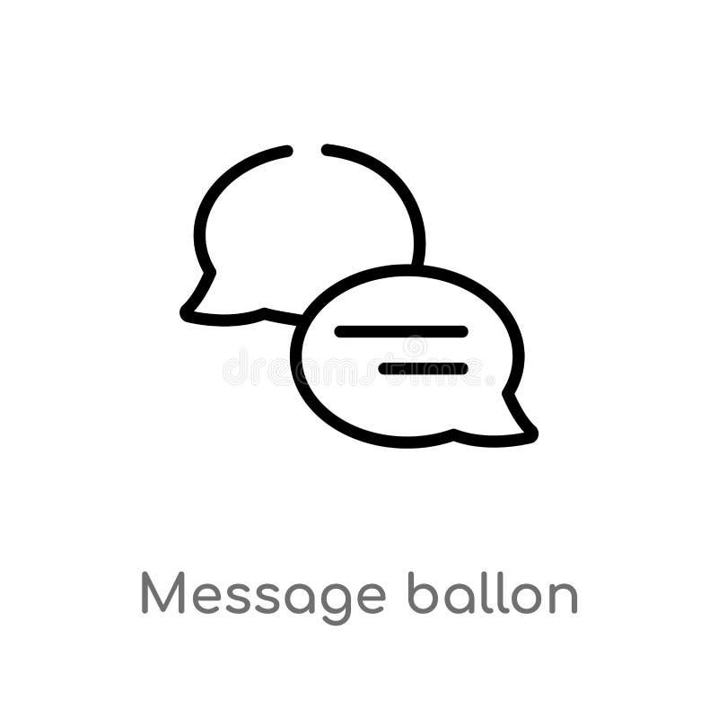 kontur wiadomości ballon wektoru ikona odosobniona czarna prosta kreskowego elementu ilustracja od ostatecznego glyphicons pojęci ilustracji