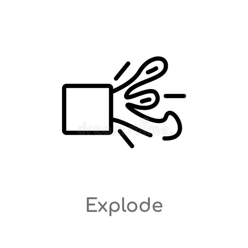 kontur wybucha wektorową ikonę odosobniona czarna prosta kreskowego elementu ilustracja od geometrii pojęcia editable wektorowy u ilustracji