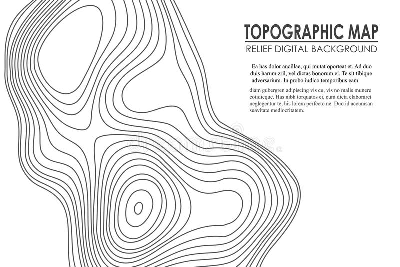 Konturbakgrund för Topographic översikt Linje översikt med höjd Geografisk vektor för abstrakt begrepp för raster för världstopog royaltyfri illustrationer