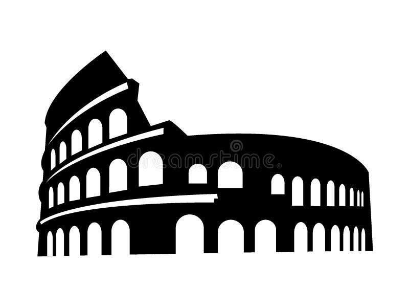 Konturbild av Colosseum av Rome royaltyfri illustrationer