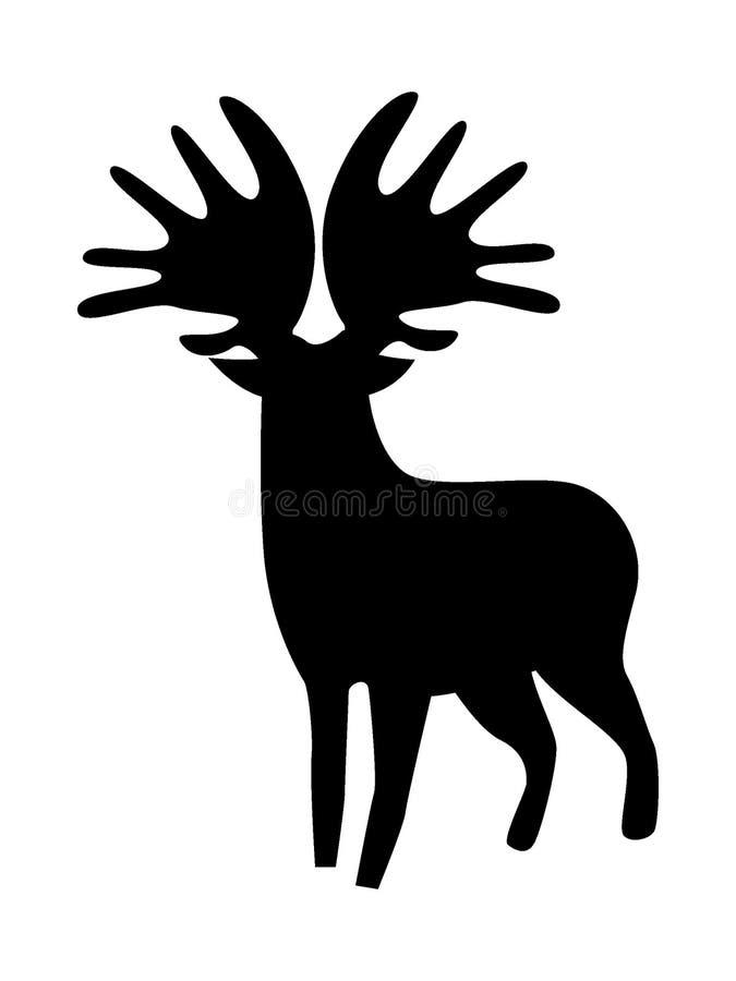 Konturbild av en hjortsymbol stock illustrationer