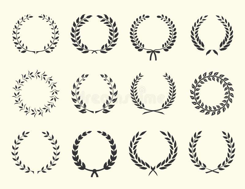 Konturer av kransar stock illustrationer