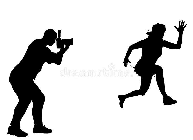 Konturfotograf stock illustrationer