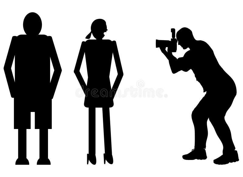 Konturfotograf royaltyfri illustrationer