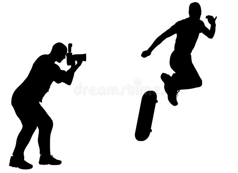Konturfotograf vektor illustrationer