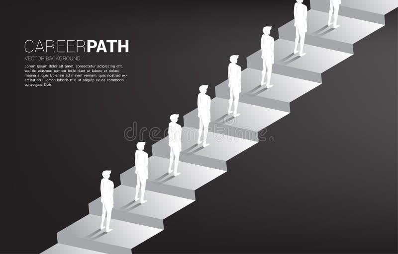 Konturgrupp av affärsmanköen till det övre momentet vektor illustrationer