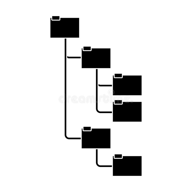 Konturmappar som organiseras i hierarki royaltyfri illustrationer