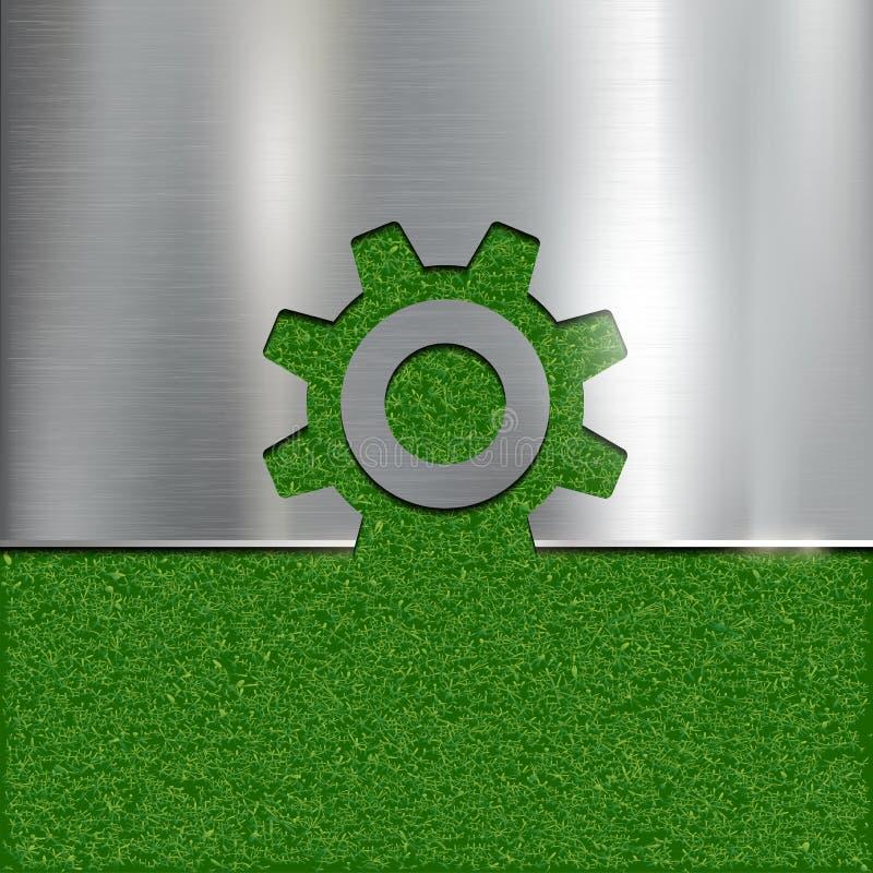 Konturngang auf Grashintergrund lizenzfreie abbildung