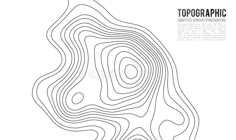 Konturnhintergrund der topographischen Karte Topo-Karte mit Aufzug vektor abbildung