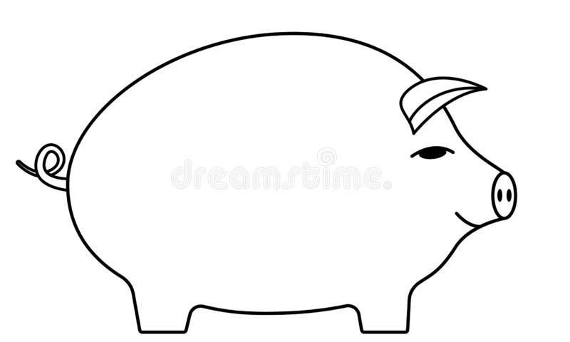 Konturnkarikaturschwein stock abbildung