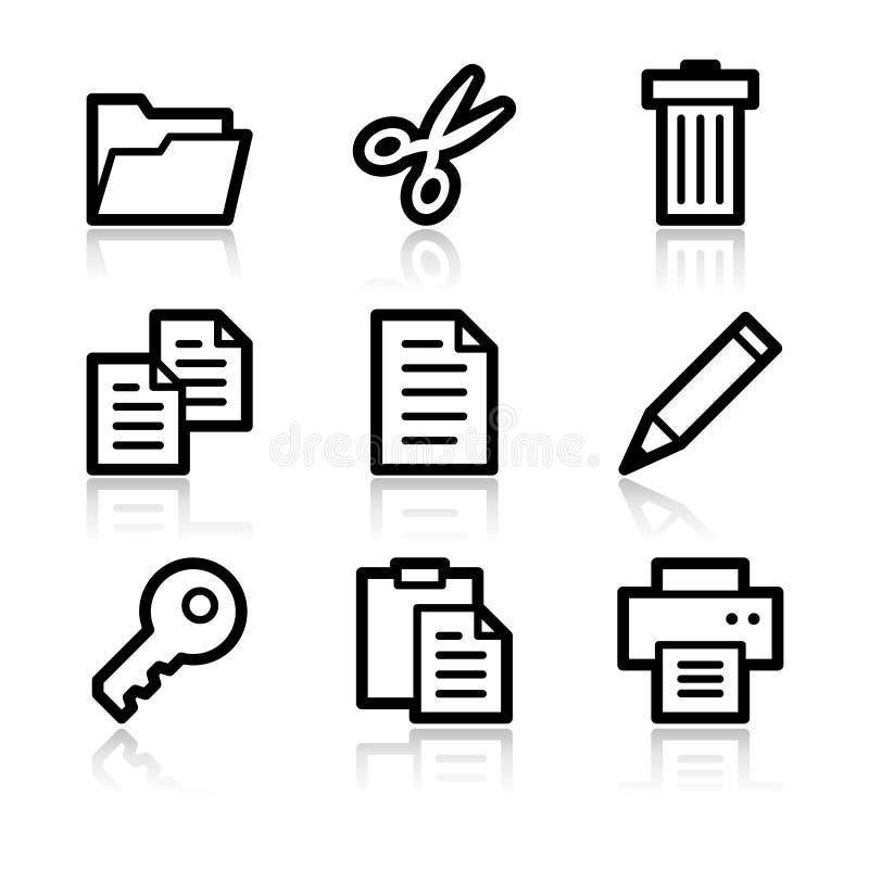 konturowa dokumentu ikon sieć royalty ilustracja