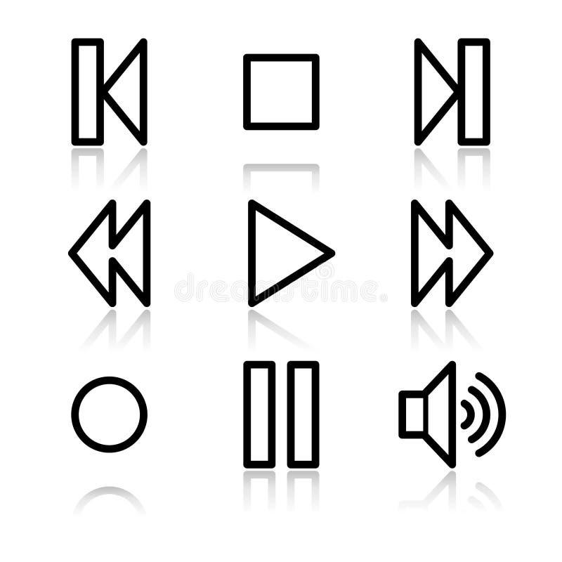 konturowa ikon walkman sieć ilustracja wektor