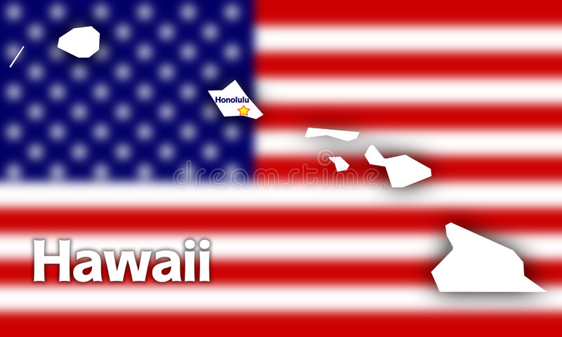 konturowy Hawaii stan ilustracji