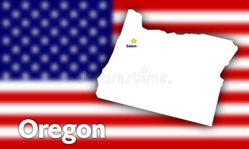 konturowy stan Oregon royalty ilustracja