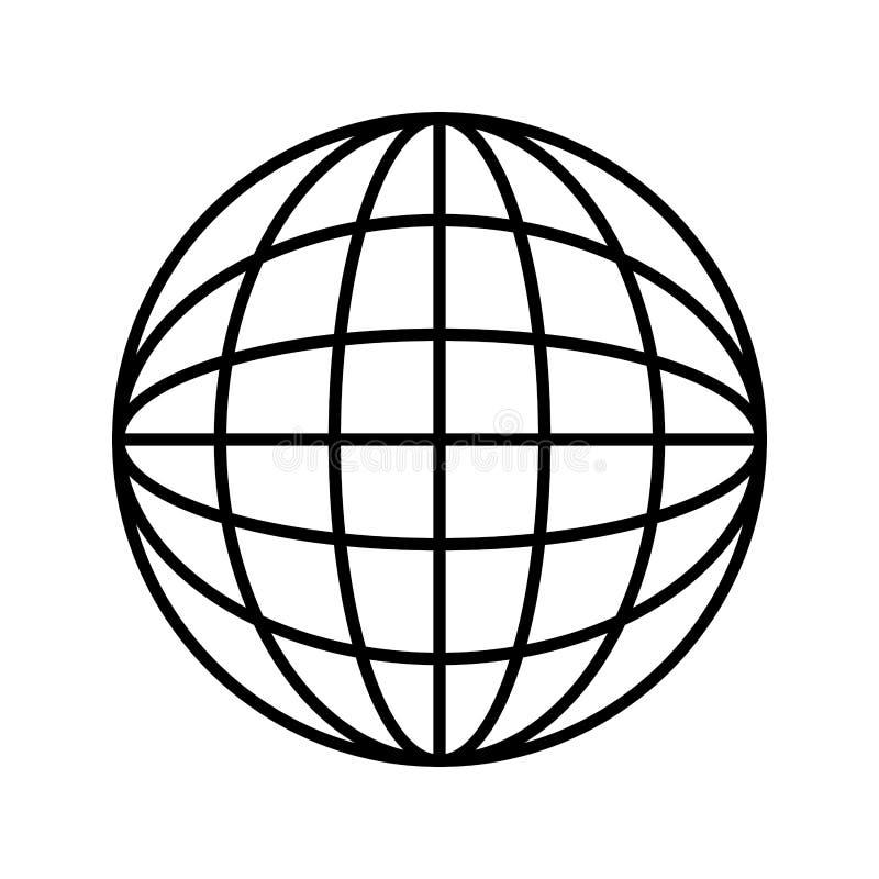 Kontursfär med kartografiska linjer royaltyfri illustrationer
