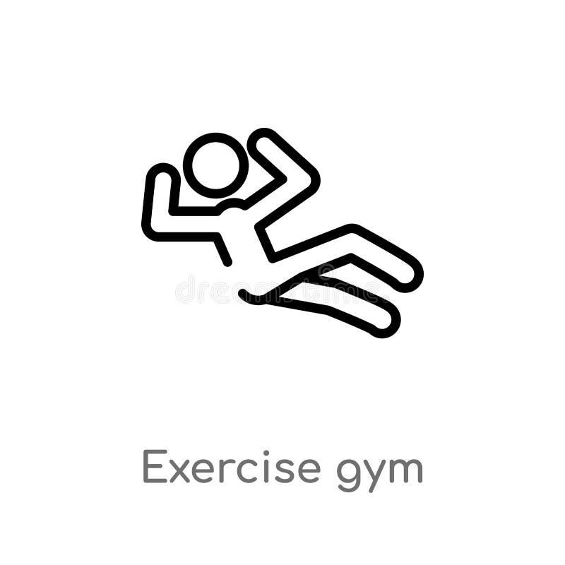 konturu ćwiczenia gym wektoru ikona odosobniona czarna prosta kreskowego elementu ilustracja od sporta pojęcia Editable wektorowy ilustracja wektor