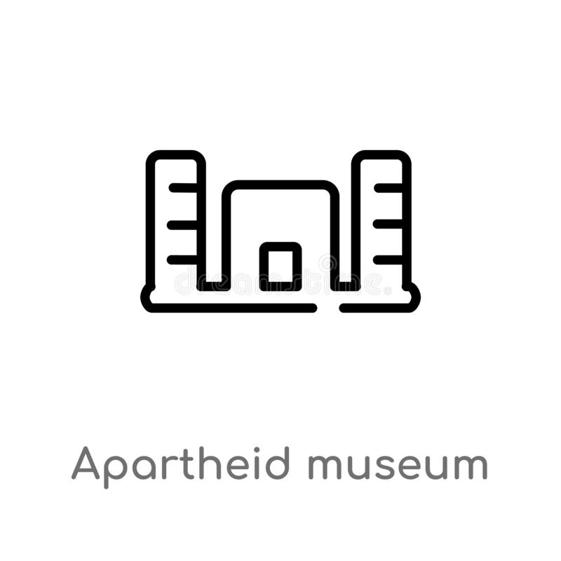 konturu apartheidu muzealna wektorowa ikona odosobniona czarna prosta kreskowego elementu ilustracja od Africa pojęcia Editable w ilustracji