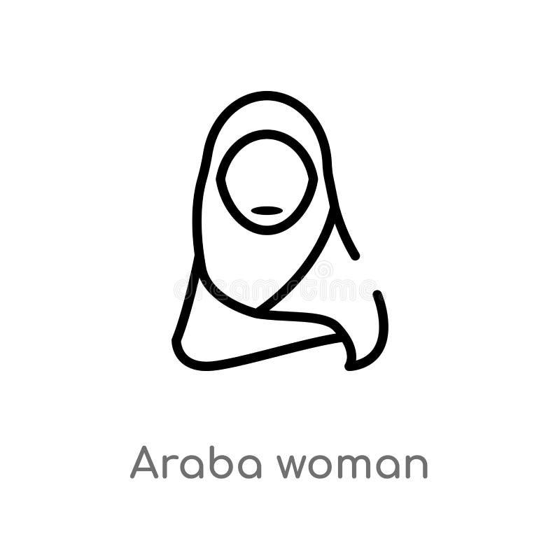 konturu araba kobiety wektoru ikona odosobniona czarna prosta kreskowego elementu ilustracja od innego pojęcia editable wektorowy ilustracja wektor