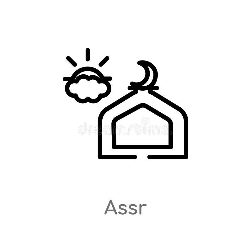 konturu assr wektoru ikona odosobniona czarna prosta kreskowego elementu ilustracja od religion-2 pojęcia editable wektorowy uder ilustracji