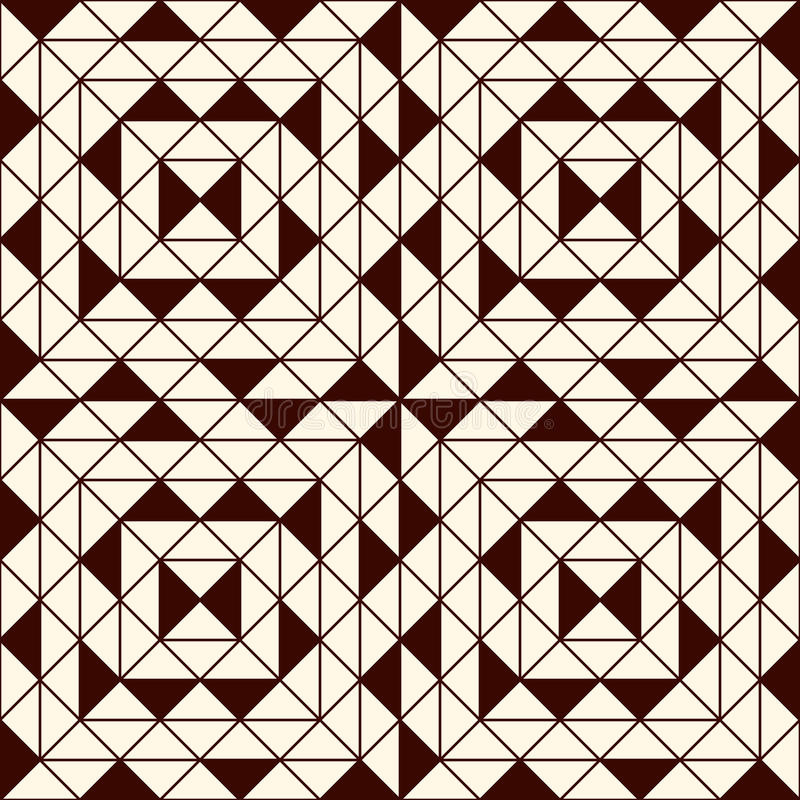 Konturu bezszwowy wzór z geometrycznymi postaciami Częstotliwy kwadratów i rhombuses ornamentacyjny abstrakcjonistyczny tło royalty ilustracja