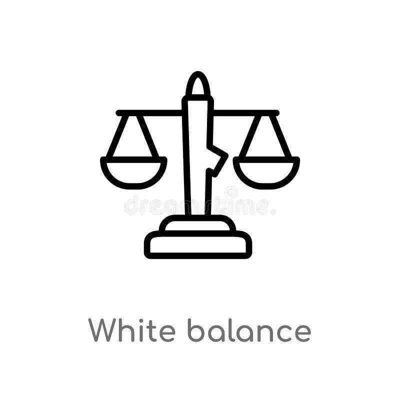 konturu bielu r?wnowagi wektoru ikona odosobniona czarna prosta kreskowego elementu ilustracja od interfejs u?ytkownika poj?cia E royalty ilustracja