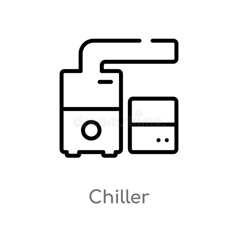 konturu chiller wektoru ikona odosobniona czarna prosta kreskowego elementu ilustracja od meble i gospodarstwa domowego pojęcia E ilustracji