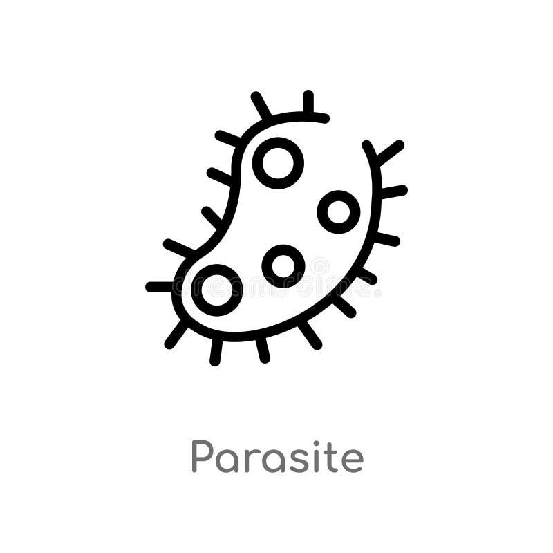 konturu darmozjada wektoru ikona odosobniona czarna prosta kreskowego elementu ilustracja od higieny pojęcia Editable wektorowy u ilustracja wektor