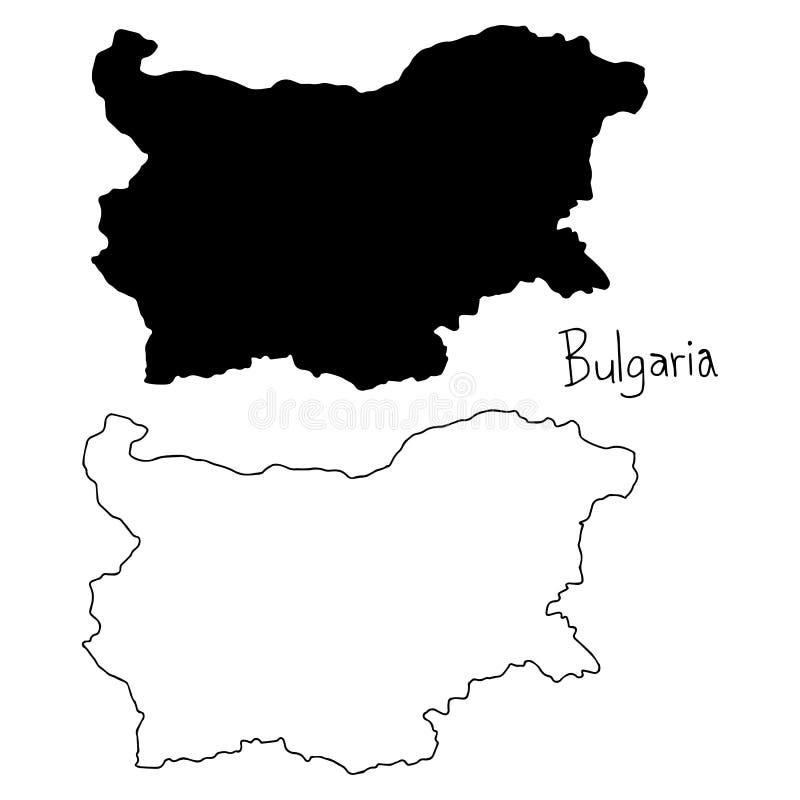 Konturu i sylwetki mapa Bułgaria - wektorowy ilustracyjny Han royalty ilustracja