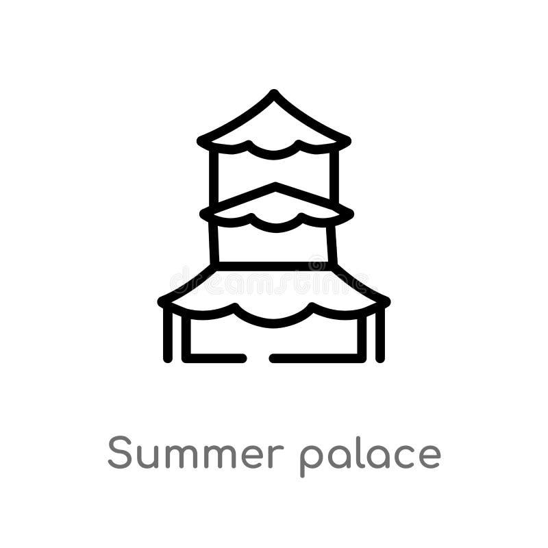 konturu lata pałac wektoru ikona odosobniona czarna prosta kreskowego elementu ilustracja od zabytku poj?cia Editable wektorowy u ilustracja wektor