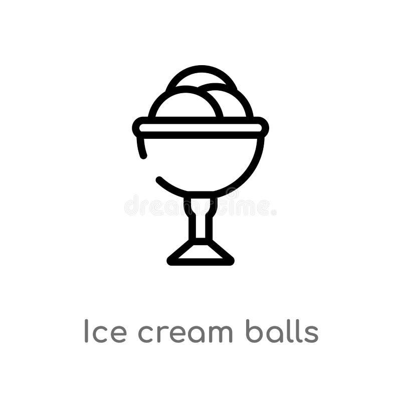 konturu lody pi?ek fili?anki wektoru ikona odosobniona czarna prosta kreskowego elementu ilustracja od bistr i restauracji poj?ci ilustracji