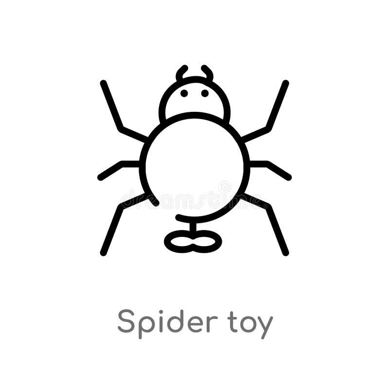 konturu paj?ka zabawki wektoru ikona odosobniona czarna prosta kreskowego elementu ilustracja od zabawki poj?cia editable wektoro ilustracja wektor