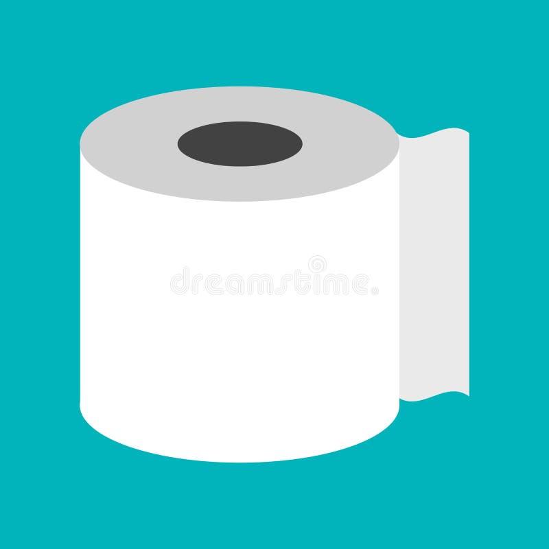 Konturu papieru toaletowego ikony ilustracyjny wektorowy symbol ilustracja wektor