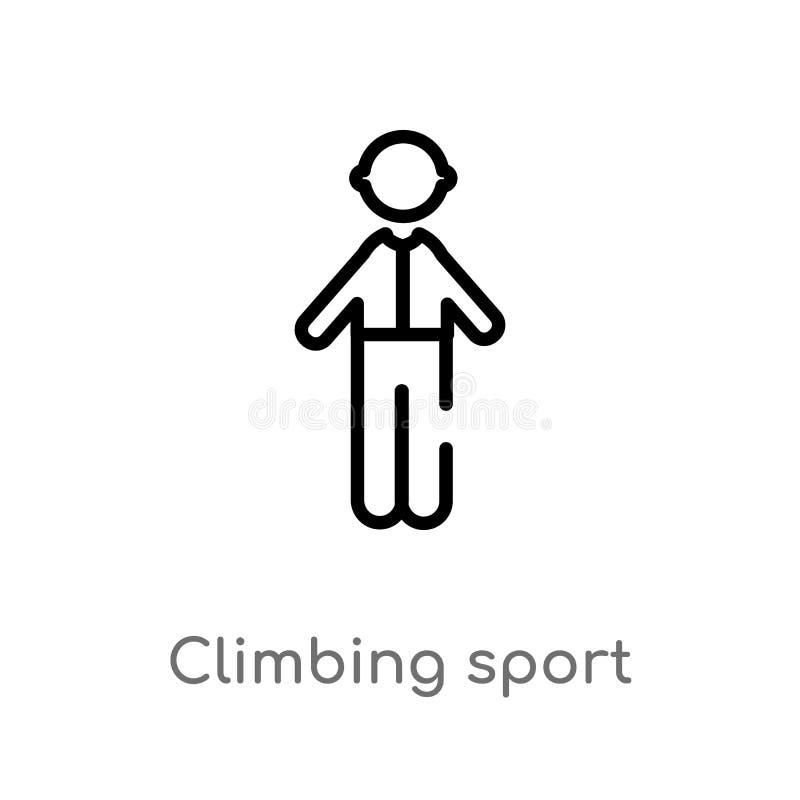 konturu pięcia sporta wektoru ikona odosobniona czarna prosta kreskowego elementu ilustracja od ludzi pojęć Editable wektorowy ud ilustracji