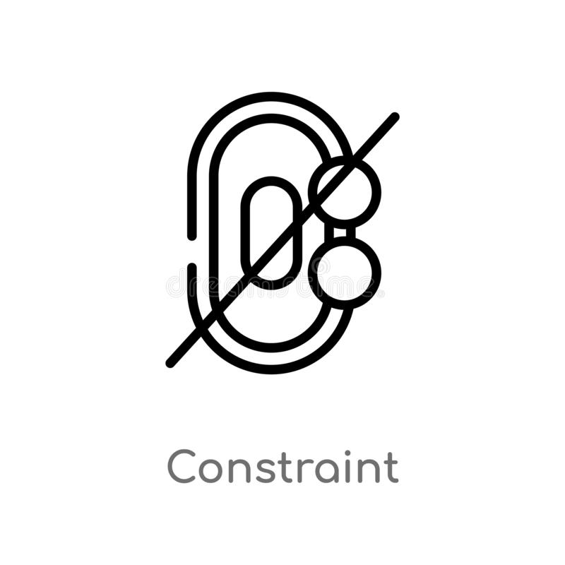 konturu przymusu wektoru ikona odosobniona czarna prosta kreskowego elementu ilustracja od geometrycznego postaci pojęcia Editabl royalty ilustracja