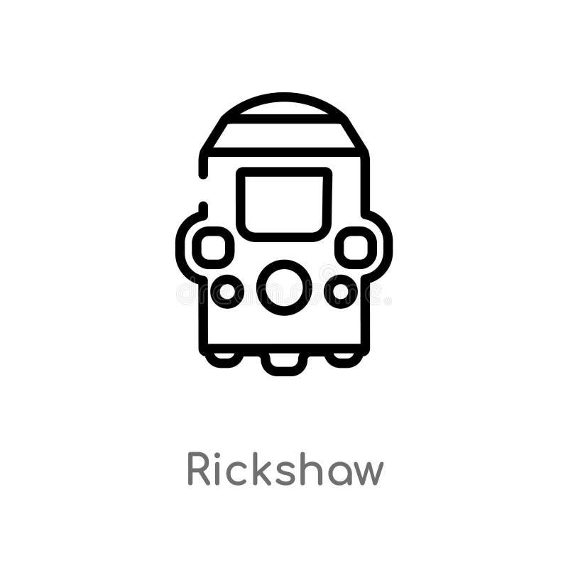 konturu riksza wektoru ikona odosobniona czarna prosta kreskowego elementu ilustracja od indu poj?cia editable wektorowy uderzeni royalty ilustracja