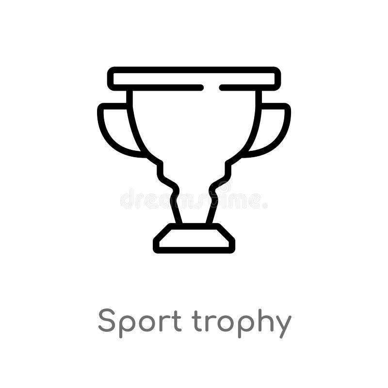 konturu sporta trofeum wektoru ikona odosobniona czarna prosta kreskowego elementu ilustracja od sport?w i turniejowego poj?cia _ ilustracja wektor