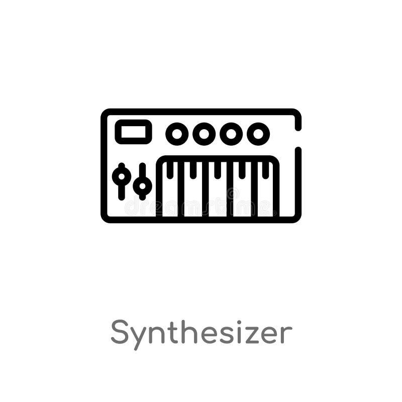konturu syntetyka wektoru ikona odosobniona czarna prosta kreskowego elementu ilustracja od muzycznego poj?cia Editable wektorowy royalty ilustracja